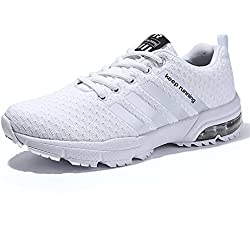 Sollomensi Zapatos Para Correr EN Montaña y Asfalto Aire Libre y Deportes Zapatillas de Running Padel Para Hombre Deportivas EU 39 B Blanco