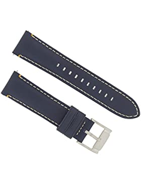Fossil Uhrband Wechselarmband LB-FS4925 Original Ersatzband FS 4925 Uhrenarmband Leder 22 mm Blau