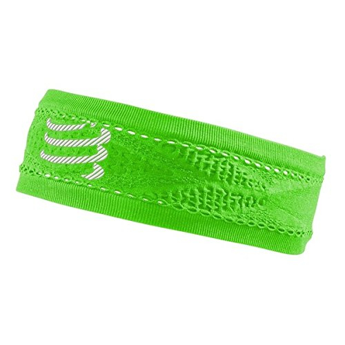 Compressport Thin Headband On/of Cinta, Verde, Talla Única