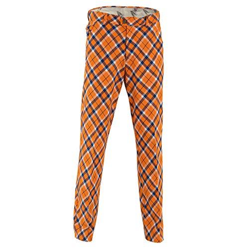 Royal & Awesome Herren Golf Hose - Tangerine Tartan -