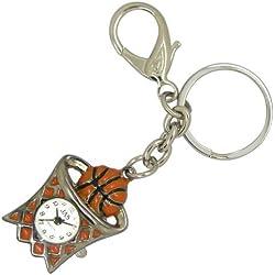 Jas Unisex Neuheit Gürtel Schlüsselanhänger/Schlüsselanhänger armbanduhr Basketball Silber Ton