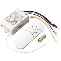 Harlls 220 V 3 Way ON/Off Digital RF Fernbedienung Schalter Wireless Für Licht Lampe Anti-Interferenz Weiß Schalter