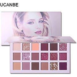 Cooljun 18 couleurs palette de maquillage ombre à paupières mate chatoyante pigmentée pierres précieuses et poudre de fard à paupières chaude corail