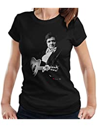 David Redfern Official Photography - Johnny Cash Performing Guitar Shot London 1983 Women's T-Shirt