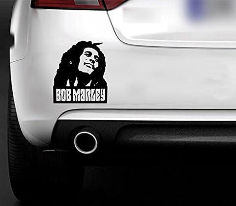 Sticker en vinyle Bob Marley pour fenêtre de voiture ordinateur portable