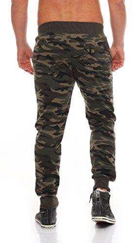 PLAY BACK Pantaloni della tuta pantaloni della tuta degli uomini di sport pantaloni mimetici di forma fisica dei pantaloni di disegno di svago sudore jogging armee