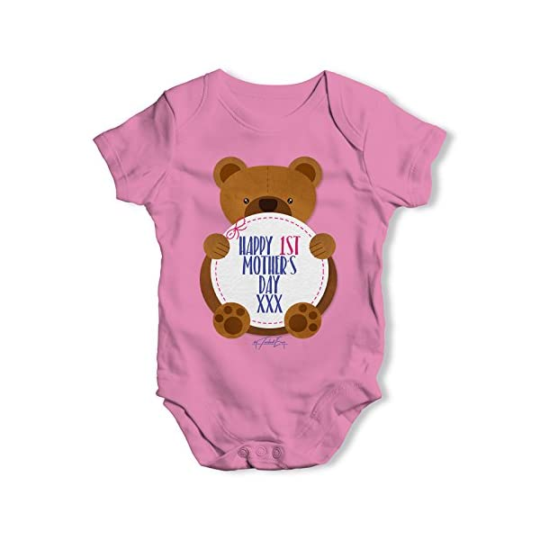 TWISTED ENVY 1St Mother's Day Bear Baby Unisex Funny Baby Grow Bodysuit
