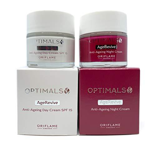 ORIFLAME Optimals Age Revive Day Cream SPF15 + Night Cream Set !
