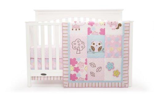 Graco Woodland 3 Piece Crib Bedding Set, Girl by Graco (English Manual)