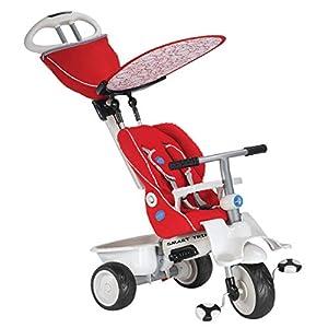SmarTrike - Triciclo Recliner, Color Rojo y Gris (2031910500)