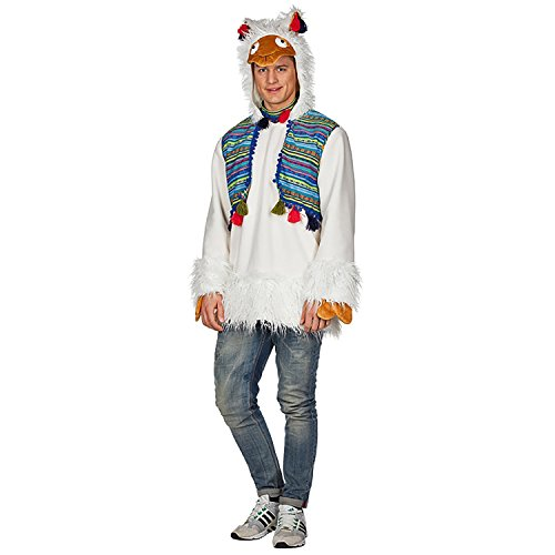 Rubie's Herren Kostüm Alpaka Peru Weiß Lama Tier -