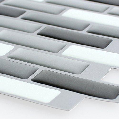 Mosaikfliesen Vinyl Mosaik 3D Grau Silber Mix -