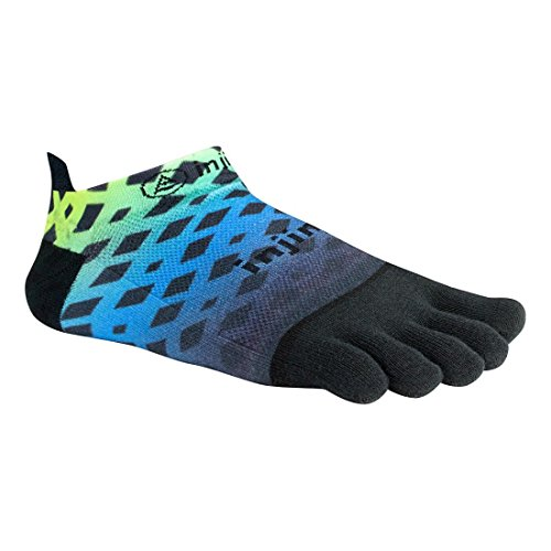 LIZARD Injinji Run No Show Zehensocken Abstract Lime