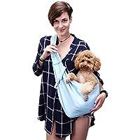 etya Mascotas Bolsas Portátiles Mochila Ajustable para Mascotas Bosa de Hombro para Perros y Gatos Bolsa de Viaje para Mascotas M (2,5kg-5kg)