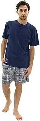 Versace 19.69 - Pijama 27-9021V para hombre, 100% algodón, manga corta