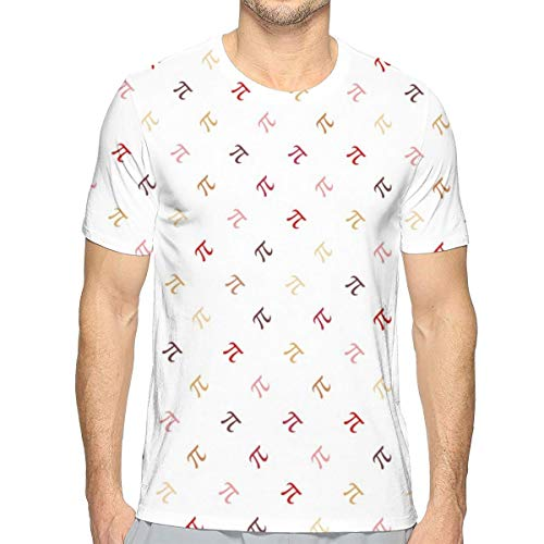 3d21c2d75016eb Men s Short Sleeve Cherry Pi Diamonds On White T-Shirts tee Tops L