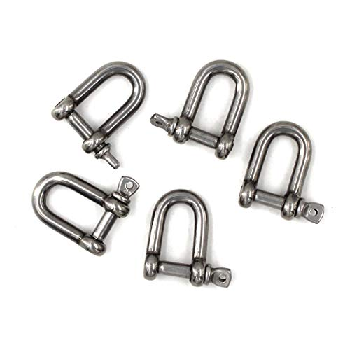 M5 Schäkel 304 Edelstahl D Ring Schäkel (Packung mit 15) -