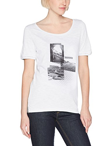 s.Oliver 14704323804, T-Shirt Femme white placed print 01D3