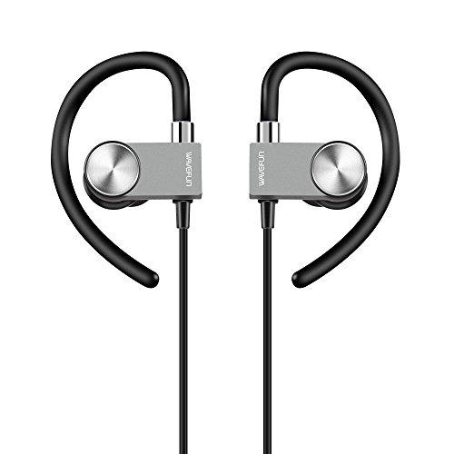 Bluetooth Kopfhörer Wavefun In Ear Kopfhörer mit Magnet bis zu 8 Stunden Spielzeit APTX, IPX4 Schweißfest, Wireless Headset mit Metal Design/Mic für iOS und Android Geräte Vakuum-kopfhörer