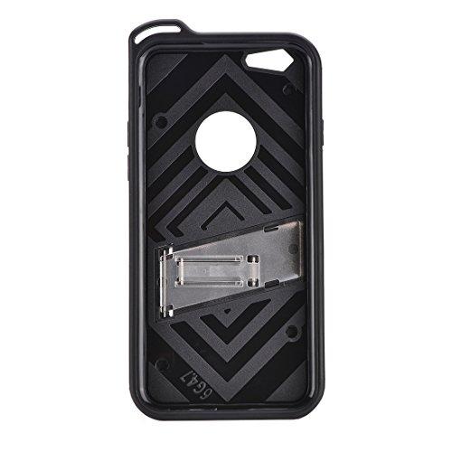MXNET IPhone 7 Case, Charm Knight Abnehmbare PC + TPU Kombination Schutzhülle mit Halter ,Fall für iphone 7 ( Color : Silver ) Silver