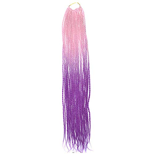Malloom Damen Damen lange Perücke Kostüm Cosplay Perücken Pop Party Kostüm, Frauen Farbverlauf Twist Crochet Zöpfe Perücken Extensions Kunsthaar Natur