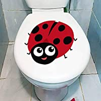 YSHUO Wall Sticker 20.8X16.7Cm Cartoon Animals Of Ladybug Toilet Decal Decoration