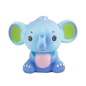 beautijiam Slow Rising Spielzeug, Cute Cartoon Elefant Squeeze Spielzeug Dekompression Spielzeug Stress Relief Geschenk für Kinder Erwachsene