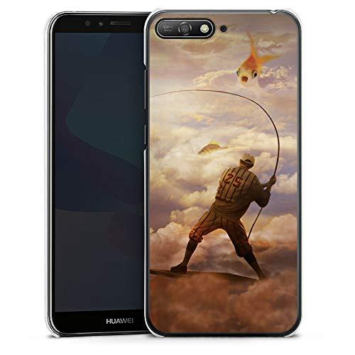 DeinDesign Hülle kompatibel mit Huawei Y6 2018 Handyhülle Case Fisch Goldfisch Angeln -