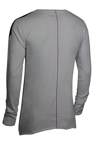 trueprodigy Casual Herren Marken Long Sleeve mit Aufdruck, Oberteil cool und stylisch mit Rundhals (Langarm & Slim Fit), Langarmshirt für Männer bedruckt Farbe: Weiß 2572110-2000 White
