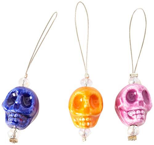 Knitter's Pride KP800383 Zooni Maschenmarker, mit farbigen Perlen, 12 Stück, Farbe: Schädel, Candy -