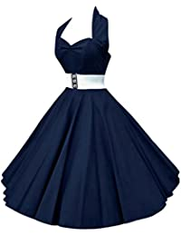 VKStar®Retro Chic ärmellos 1950er Audrey Hepburn Kleid / Cocktailkleid Rockabilly Swing Kleid