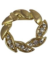Clip pour écharpe, Broche, Echarpe de Cravate, doré effet couronne avec diamants