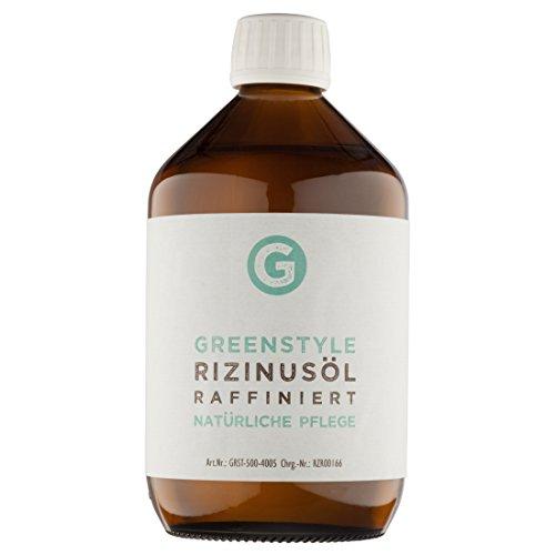 Rizinusöl 500ml - reines Öl zur Haut- und Haarpflege von greenstyle