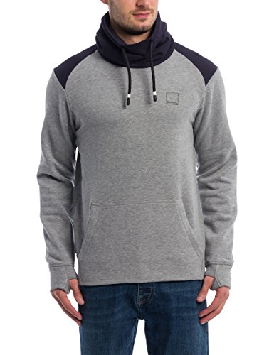 Bench Herren Sweatshirt Her. Colorblock Funnel, Grau (Winter Grey Marl Ma1054), X-Large (H Preisvergleich