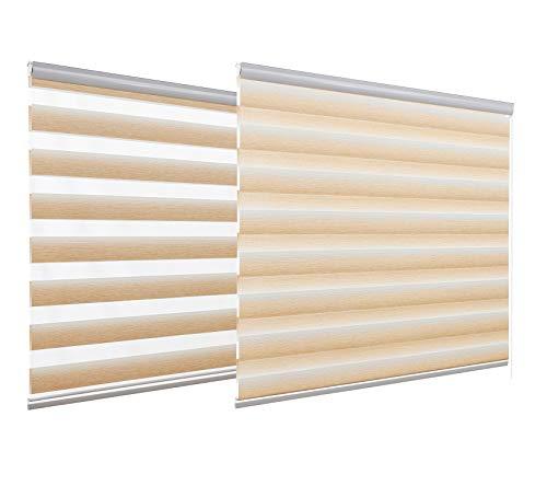 HSYLYM - Estor Enrollable para Ventanas Velux Dia y Noche Zebra Blackout Blinds Trimmable Glare Protección Disponible en 12 tamaños, A01, 120x150cm