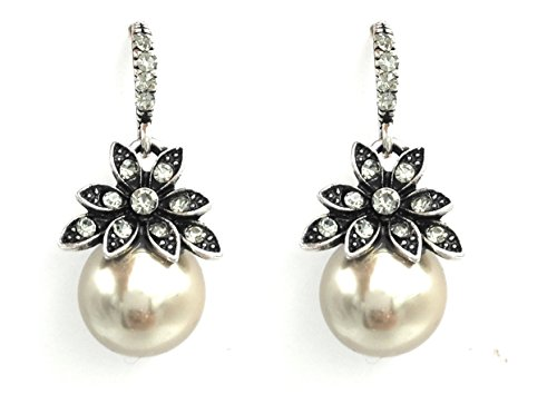 S.A.V.I High Quality Coffee Color Big Pearl Drop Elegant Earrings For Women