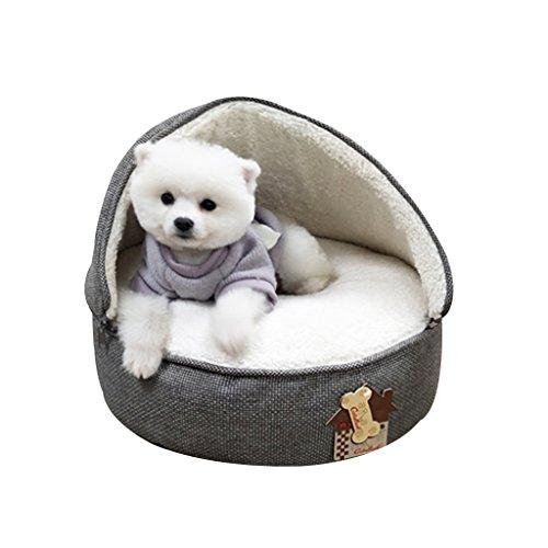 GYZ-Betten Pet Dog Bed - Gepolsterte Pet Bolster-Bettmatratze Pet Bed for Dogs & Cats-Pet Supplies rundes Hundebett Dog Lounge / (Farbe : Gray, größe : M) -