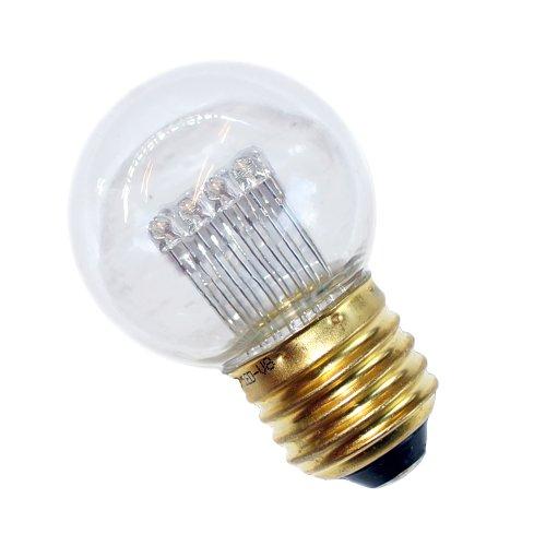 10 x LED Tropfen 1W E27 KLAR V8 extra warmweiß 2200K für außen Kugel Birne