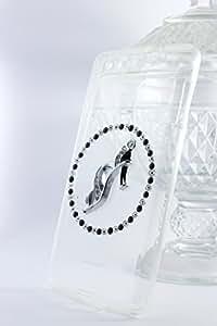 Kiintymys Handmade Designer Bling 3D Black Shoe Charm Acrylic Case for Lenovo Zuk Z2