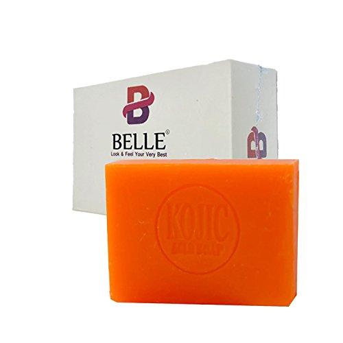 Belle ® blanchissant la peau éclaircissant éclaircir kojic acid savon 150 g enlève taches sombres, taches de rousseur et l'acné, vergetures, teinte inégale de la peau