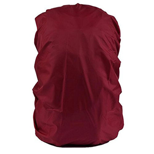 Imported Waterproof Travel Camping Hiking Backpack Dust Rain Cover 30L-40L -Dark Red  available at amazon for Rs.280