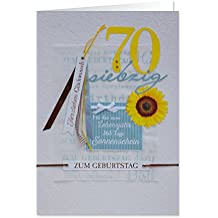 Gruss 90223Handmade tarjeta de felicitación, 70-para el nuevo vida Año 365días Sonnenschein, cumpleaños Herzlichen felicitación, XL, multicolor