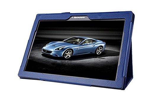 Lobwerk Schutzhülle für Lenovo Tab 10 TB-X103F 10.1 Zoll Tablet Hülle aus Kunstleder Smart Cover Flip Case Blau