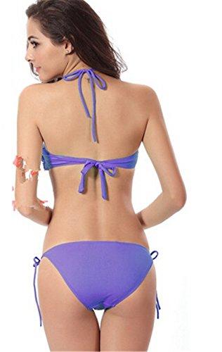 Summens Damen Bademode Badeanzüge Bikini-Sets Swimsuit Lila