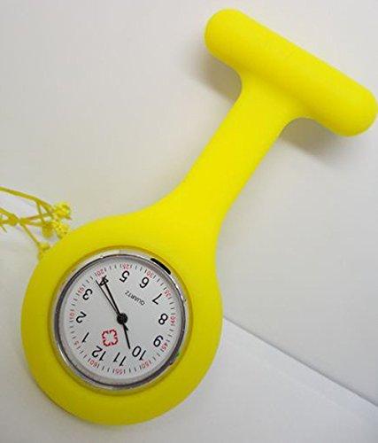 Zeuxs Unisex Krankenschwester oder Arzt einfach und bequem Armbanduhr, gelb, 9.5*3.5*2.