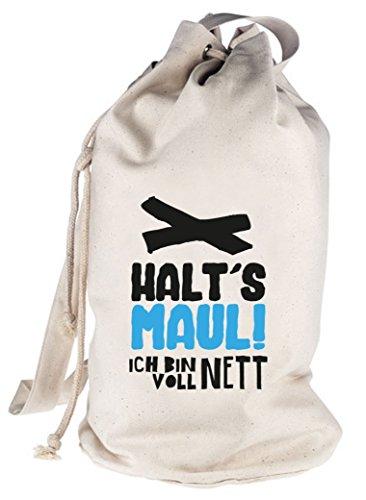 Shirtstreet24, Voll Nett, bedruckter Seesack Umhängetasche Schultertasche Beutel Bag Natur