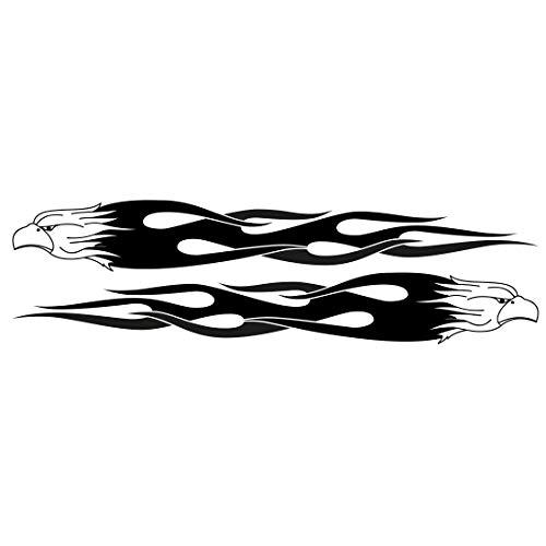 Auto Tattoo Aufkleber - 2x Eagle Flame - L - 125x17cm