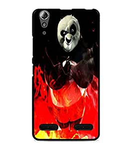 PrintDhaba Panda D-4386 Back Case Cover for LENOVO A6000 PLUS (Multi-Coloured)