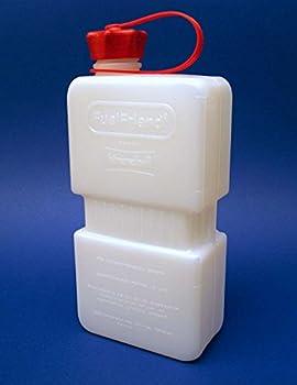 2x Fuelfriend® Plus Clear 1,5 Liter Mini-benzinkanister + Füllrohr Verschließbar 1