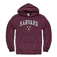 Campus Colors NCAA Adult Arch & Logo Gameday Hooded Sweatshirt - Multiple Teams Medium Red